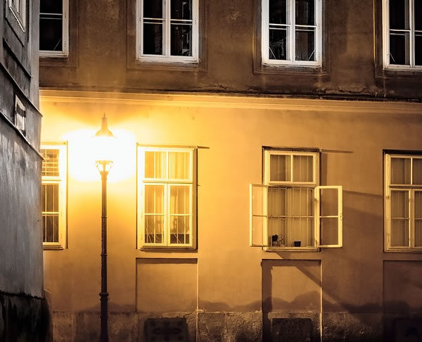udendørs belysning med LED